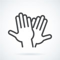 Black Flat Icon Gesture Hand Of Human High Five, Greeting Royalty Free Stock Images - 88549009