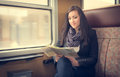 Young Woman In Train Royalty Free Stock Photos - 88553428