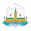 Germany - Modern Vector Line Travel Illustration Stock Photography - 88560112
