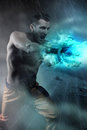 Young Man Doing An Energy Blast Royalty Free Stock Image - 88612556
