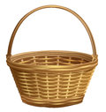 Empty Wicker Basket With Handle Arc Royalty Free Stock Photos - 88616158