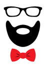 Party Accessories Set - Glasses, Mustache, Bow Royalty Free Stock Photo - 88618365