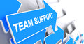 Team Support - Text On The Blue Cursor. 3D. Royalty Free Stock Photo - 88629345