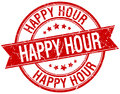 Happy Hour Grunge Retro Red Isolated Stamp Royalty Free Stock Image - 88646356