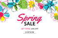 Spring Sale Poster Template With Colorful Flower Background. Royalty Free Stock Photo - 88676515