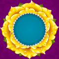 Yellow Floral Circle Frame Royalty Free Stock Photography - 88677507