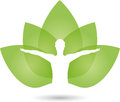 Human And Leaves, Naturopath And Fitness Logo Royalty Free Stock Photography - 88713887