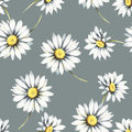 Seamless Pattern With Daisies. Hand Draw Watercolor Illustration. Stock Photography - 88732002