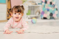 Cute Happy 2 Years Old Baby Girl Playing With Toys At Home Royalty Free Stock Photo - 88747115