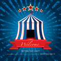 Welcome Blue Circus Burst Stock Image - 88754031