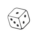 Doodle Of One Casino Dice Stock Image - 88756231
