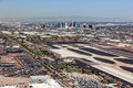 Downtown Phoenix Skyline From Sky Harbor Royalty Free Stock Photography - 88794267