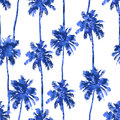 Pattern From Watercolor Palms Royalty Free Stock Images - 88794309