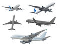 Collection Of Passenger Aircraft Isolated On White Background Royalty Free Stock Images - 88794729