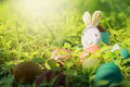Colorful Easter Eggs In Nature. Royalty Free Stock Photo - 88808255
