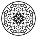 Vector Stencil Lacy Round Ornament Mandala With Carved Openwork Royalty Free Stock Photography - 88811047