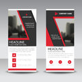 Red Black Roll Up Business Brochure Flyer Banner Design , Cover Presentation Abstract Geometric Background, Modern Publication Royalty Free Stock Images - 88834409