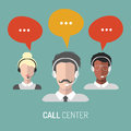 Vector Illustration Of Customer Service, Call Center Operators Icons With Headsets. Royalty Free Stock Images - 88846639