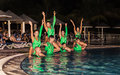 Amazing Performance Of Hotel Entertainment Team At Night Spectacular Water Show Royalty Free Stock Photo - 88861795