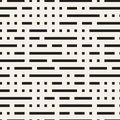 Irregular Maze Shapes Tiling Contemporary Graphic Design. Vector Seamless Black And White Pattern Stock Photo - 88866930