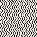 Wavy Ripple Hand Drawn Lines. Abstract Geometric Background Design. Vector Seamless Pattern. Royalty Free Stock Image - 88868376