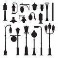Street Lamps And Lamp Posts Icons Royalty Free Stock Photo - 88872045