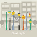 Street Lamps And Lamp Posts Banner Stock Image - 88872081