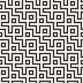Maze Tangled Lines Contemporary Graphic. Abstract Geometric Background Design. Vector Seamless Pattern. Royalty Free Stock Photography - 88889367