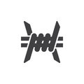 Barbed Wire Icon Vector Royalty Free Stock Photography - 88889937