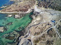 Norwegian Island Group Aerial View, Drone View Royalty Free Stock Images - 88895099