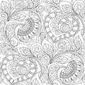 Seamless Pattern With Hearts Ornament. Floral Decorative Pattern In Zentangle Style. Adult Antistress Coloring Page Royalty Free Stock Images - 88915319