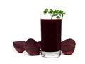 Beet Juice With Parsley And Surrounding Beets Isolated On White Stock Photography - 88918802