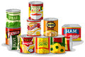 Different Types Of Canned Food Stock Photography - 88936062