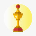 Vector Trophy Champion Cup Flat Icon Winner Gold Award And Victory Prize Sport Success Best Win Golden Leadership Royalty Free Stock Images - 88968979