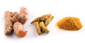 Turmeric Root On White Background Stock Photos - 88977223