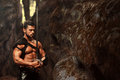 Manly Warrior At The Mountains Stock Images - 88989174