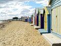 A Long Stretch Of Beachhouses Stock Images - 892194