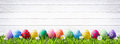 Easter Eggs In A Row Royalty Free Stock Photo - 89008105
