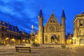 Illuminated Gothic Facade Of Ridderzaal, Hague Stock Photo - 89008630