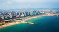 Aerial View Of Barcelona From Mediterranean Coast Stock Photography - 89018212