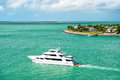 Touristic Yachts Floating By Green Island At Key West, Florida Stock Image - 89024011