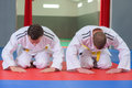 Two Fighters Bowing Before Fight Stock Photography - 89031482