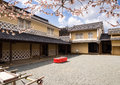 Traditional Japanese House With Plum Trees Blooming In Spring Royalty Free Stock Photos - 89032708