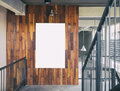 Mock Up Blank Poster Template Board Display Loft Interior Stock Photography - 89045902