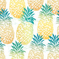 Ink Hand Drawn Seamless Pattern With Pineapples Royalty Free Stock Image - 89054306