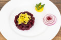 Appetizer Of Beetroot And Egg Stock Photos - 89056873
