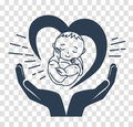 Silhouette Icon Of The Birth Of A Child Stock Photo - 89058770