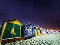 Bathing Boxes At Night Royalty Free Stock Photography - 89063887