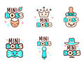 Cute Kawaii Emoticons With Baby Boy Objects Stock Photos - 89068153