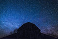 Old Ontario Barn And The Milky Way And Night Stars Royalty Free Stock Photo - 89076905